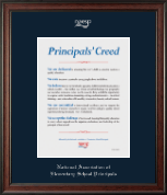 National Association Elementary School Principals Certificate Frame - Embossed Certificate Frame in Studio