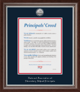 National Association Elementary School Principals Certificate Frame - Silver Engraved Medallion Certificate Frame in Devonshire
