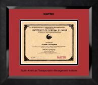 North American Transportation Management Inst Certificate Frame - Black Embossed Certificate Frame in Eclipse