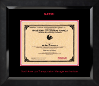 North American Transportation Management Inst Certificate Frame - Red Embossed Certificate Frame in Eclipse