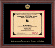 North American Transportation Management Inst Certificate Frame - Gold Engraved Medallion Certificate Frame in Signature