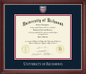 University of Richmond Diploma Frame - Pewter Masterpiece Medallion Diploma Frame in Kensington Silver