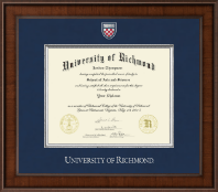 University of Richmond Diploma Frame - Presidential Masterpiece Diploma Frame in Madison
