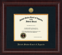 The United States Court of Appeals Certificate Frame - Presidential Gold Engraved Certificate Frame in Premier