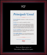National Association Elementary School Principals Certificate Frame - Silver Embossed Certificate Frame in Academy