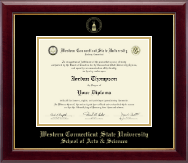 Western Connecticut State University Diploma Frame - Gold Embossed Diploma Frame in Gallery