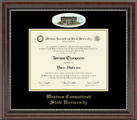 Western Connecticut State University Diploma Frame - Campus Cameo Diploma Frame in Chateau