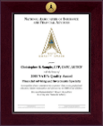 National Association of Insurance and Financial Advisors Certificate Frame - Century Gold Engraved Certificate Frame in Cordova