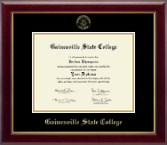 Gainesville State College Diploma Frame - Gold Embossed Diploma Frame in Gallery