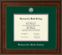 Gainesville State College Diploma Frame - Presidential Silver Engraved Diploma Frame in Madison