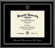 Maryville University of St. Louis Diploma Frame - Silver Embossed Diploma Frame in Onyx Silver