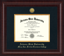 Arizona State University Diploma Frame - Presidential Gold Engraved Diploma Frame in Premier