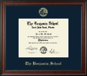 The Benjamin School Diploma Frame - Gold Embossed Diploma Frame in Studio