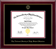 The National Society of High School Scholars Certificate Frame - Gold Embossed Certificate Frame in Gallery