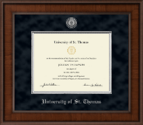 University of St. Thomas Diploma Frame - Presidential Silver Engraved Diploma Frame in Madison