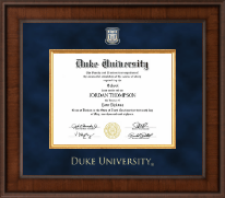 Duke University Diploma Frame - Presidential Masterpiece Diploma Frame in Madison