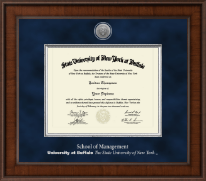 University at Buffalo The State University of New York Diploma Frame - Presidential Silver Engraved Diploma Frame in Madison