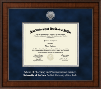 University at Buffalo Diploma Frame - Presidential Silver Engraved Diploma Frame in Madison
