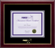 Power Pilates Certificate Frame - Gold Embossed Certificate Frame in Gallery