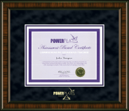 Power Pilates Certificate Frame - Gold Embossed Certificate Frame in Brentwood