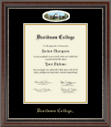 Davidson College Diploma Frame - Campus Cameo Diploma Frame in Chateau