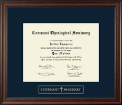 Covenant Theological Seminary Diploma Frame - Gold Embossed Diploma Frame in Studio