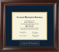 Covenant Theological Seminary Diploma Frame - Gold Embossed Diploma Frame in Rainier