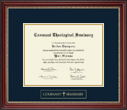 Covenant Theological Seminary Diploma Frame - Gold Embossed Diploma Frame in Kensington Gold