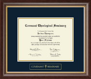 Covenant Theological Seminary Diploma Frame - Gold Embossed Diploma Frame in Hampshire
