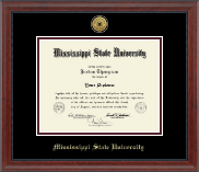 Mississippi State University Diploma Frame - Gold Engraved Medallion Diploma Frame in Signature