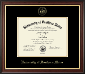 University of Southern Maine Diploma Frame - Gold Embossed Diploma Frame in Studio Gold