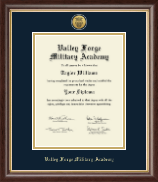Valley Forge Military Academy Diploma Frame - Gold Engraved Medallion Diploma Frame in Hampshire