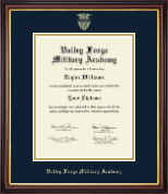 Valley Forge Military Academy Diploma Frame - Gold Embossed Diploma Frame in Regency Gold