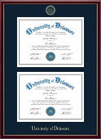 University of Delaware Diploma Frame - Double Document Diploma Frame in Galleria