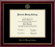 Patrick Henry College Diploma Frame - Gold Embossed Diploma Frame in Gallery