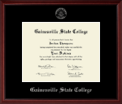 Gainesville State College Diploma Frame - Silver Embossed Diploma Frame in Camby