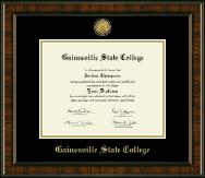 Gainesville State College Diploma Frame - Gold Engraved Medallion Diploma Frame in Brentwood