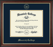 Messiah College Diploma Frame - Gold Embossed Diploma Frame in Studio Gold