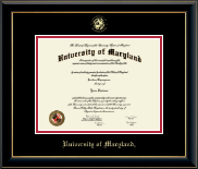 University of Maryland, College Park Diploma Frame - Gold Embossed Diploma Frame in Onyx Gold