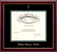Alpha Omega Alpha Certificate Frame - Double Matted Embossed Frame in Gallery