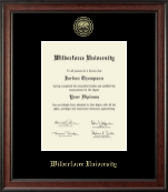 Wilberforce University Diploma Frame - Gold Embossed Diploma Frame in Studio