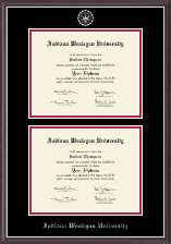 Indiana Wesleyan University  Diploma Frame - Double Document Diploma Frame in Devon