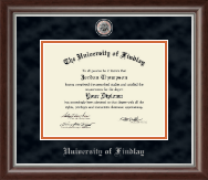 The University of Findlay Diploma Frame - Pewter Masterpiece Medallion Diploma Frame in Devonshire