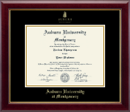 Auburn University Montgomery Diploma Frame - Gold Embossed Diploma Frame in Gallery