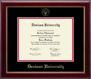 Denison University  Diploma Frame - Gold Embossed Diploma Frame in Gallery