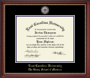 East Carolina University Diploma Frame - Masterpiece Medallion Diploma Frame in Kensington Gold
