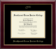 Southwest Texas Junior College Diploma Frame - Gold Embossed Diploma Frame in Gallery