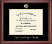 The University of Iowa Diploma Frame - Masterpiece Medallion Diploma Frame in Kensington Gold