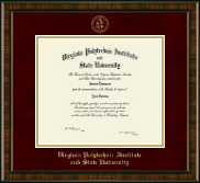 Virginia Tech Diploma Frame - Gold Embossed Diploma Frame in Brentwood