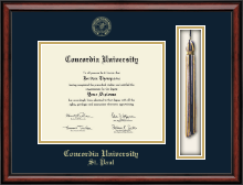 Concordia University Saint Paul Minnesota Diploma Frame - Tassel Edition Diploma Frame in Southport